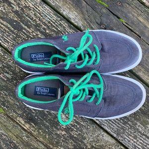 Polo by Ralph Lauren navy blue canvas shoe Women 7